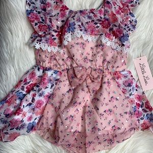 Little lass floral print with stones